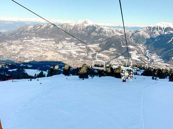 val di fiemme con i bambini piste sci