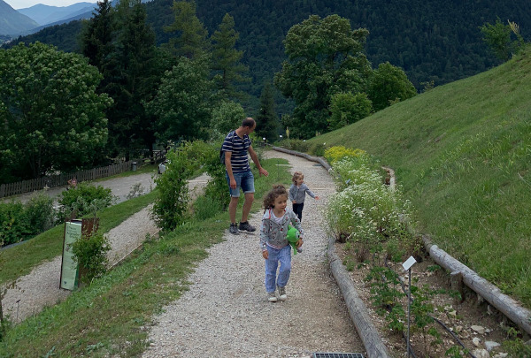percorso in giardino botanico