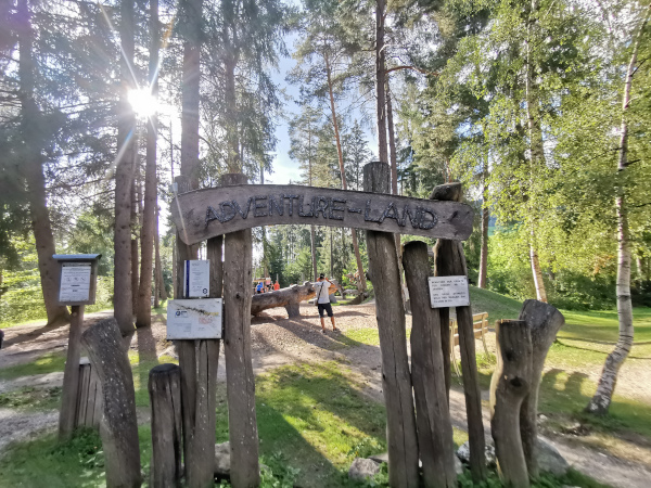 ingresso del parco avventura
