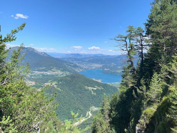 vista dall'alto di un lago