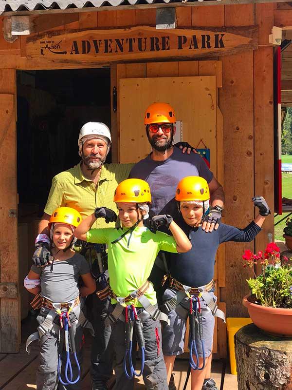 famiglia al Dolomiti Action