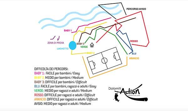 mappa Dolomiti Action