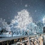 merano Natale neve luci