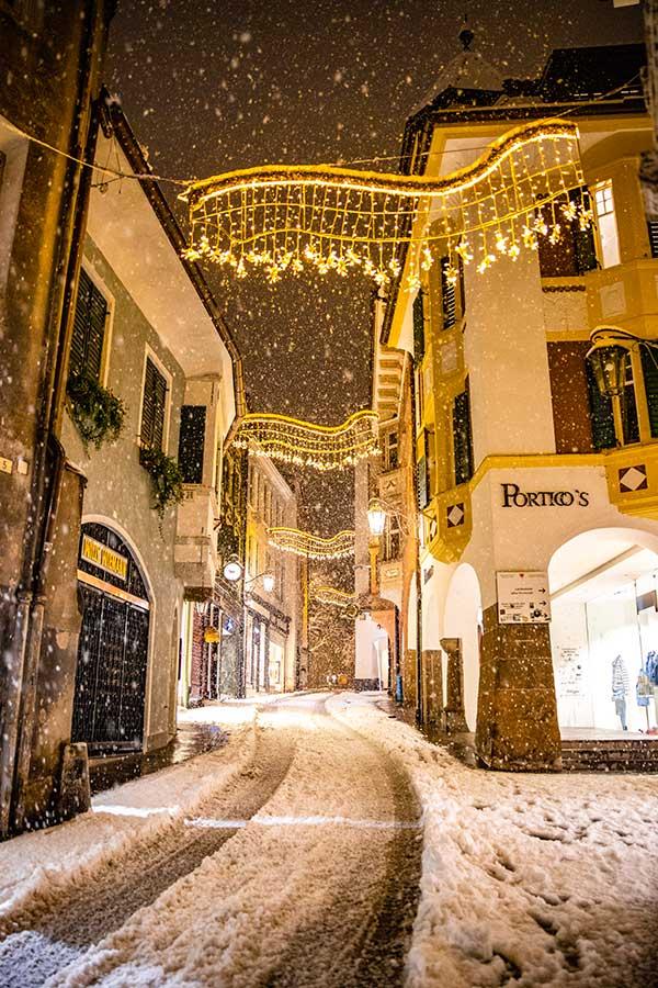 merano neve luci di Natale
