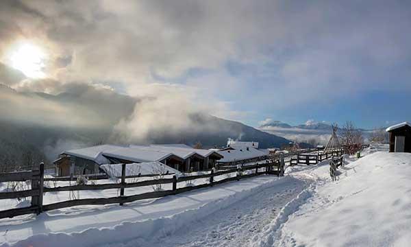 Longanorbait con la neve