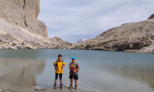 Bambini lago Antermoia