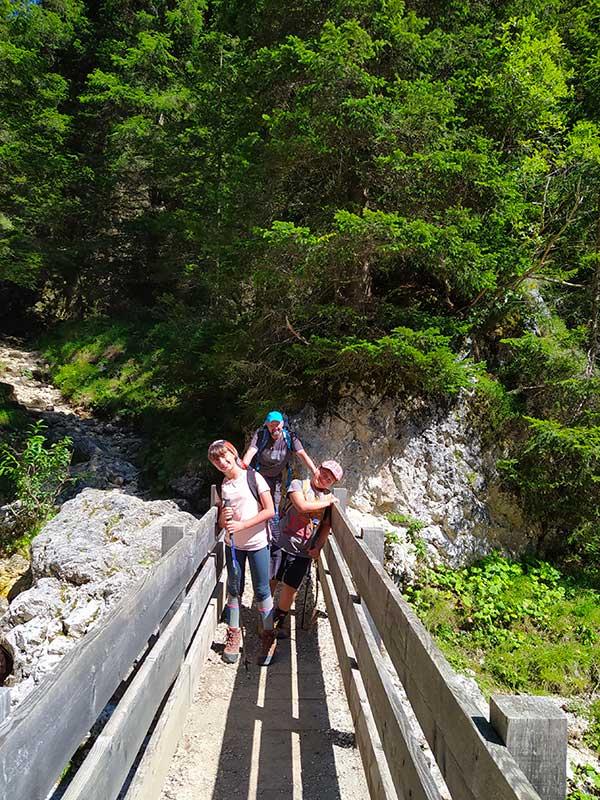 Trekking famiglia Val Udai