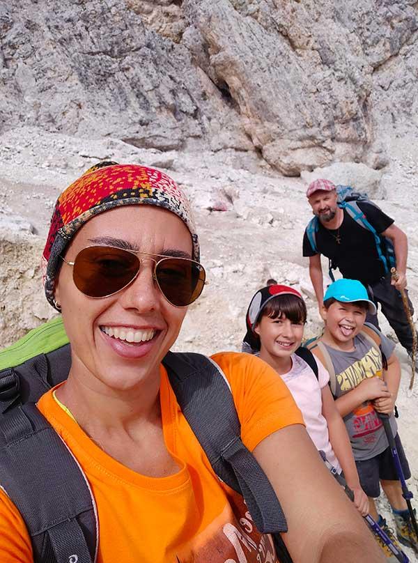 famiglia trekking