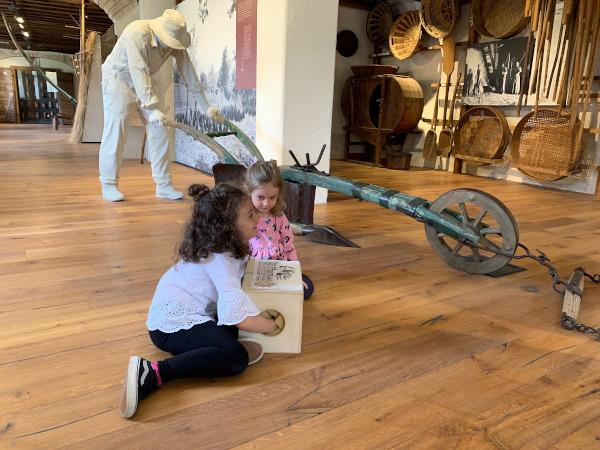 bambine con mani in una scatola per capire oggetto nascosto