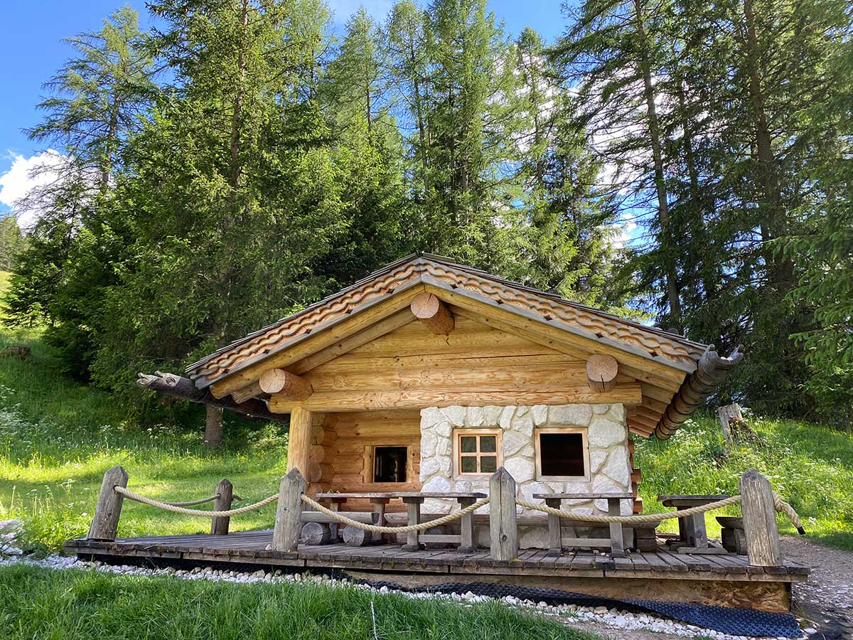 casetta di legno