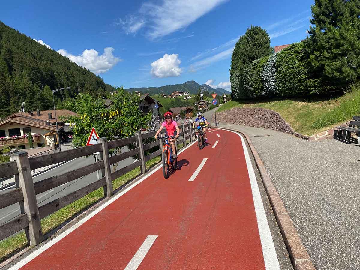 ciclopedonale trenino Val Gardena