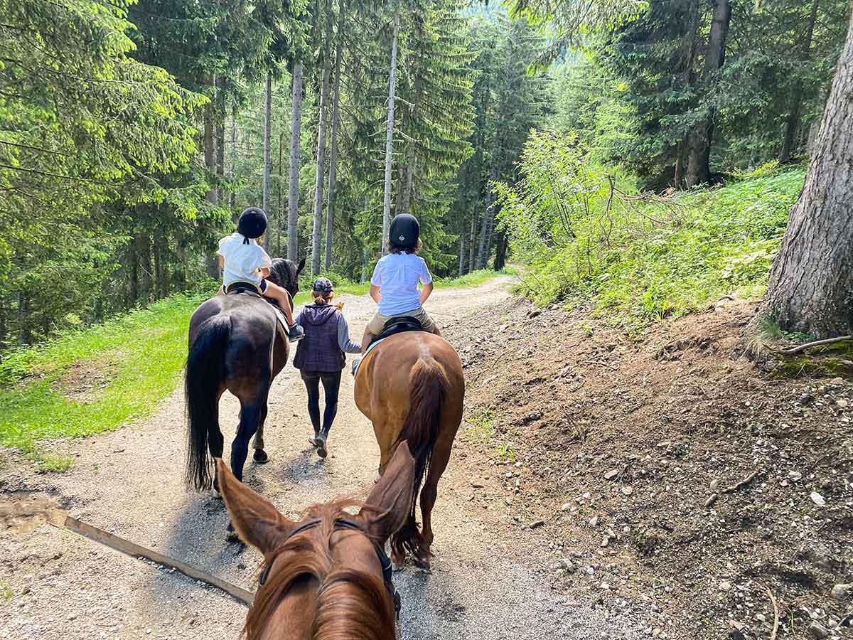 bambii di spalle a cavallo