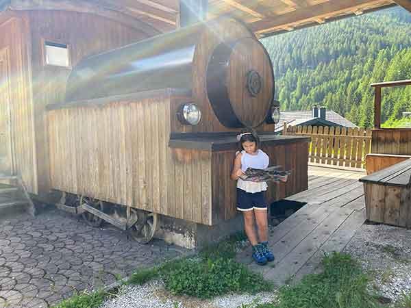 locomotiva di legno