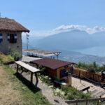 rifugio di montagna con vista lago